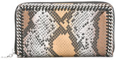 Stella McCartney Falabella snakeskin-effect wallet - women - Artificial Leather - One Size