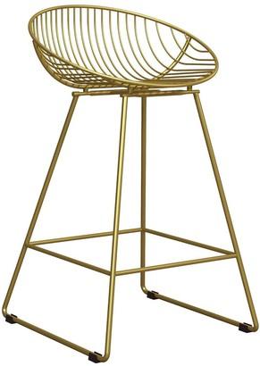 CosmoLiving by Cosmopolitan Ellis Wire Bar Stool- Gold