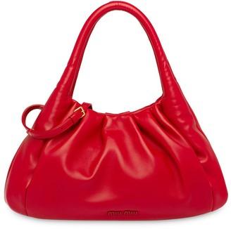 Miu Miu Gathered Details Tote Bag