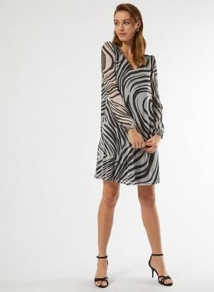 Dorothy Perkins Womens **Billie & Blossom Black Zebra Print Swing Dress