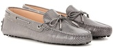 Tod's Heaven Laccetto Embossed Leather Loafers