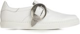 Toga Buckle low-top leather trainers