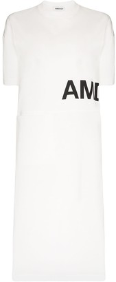 Ambush side split logo T-shirt dress