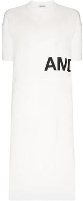 Ambush side split logo T-shirt dress