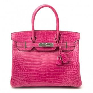 Hermes Birkin 30 Pink Crocodile Handbags