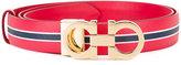 Salvatore Ferragamo striped belt - women - Leather - 100