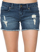 O'Neill Scout Destructed Frayed Hem Cutoff Denim Shorts