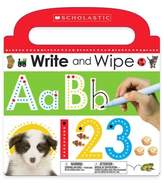"Scholastic Write and Wipe ABC 123"" Board Book"