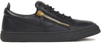 Giuseppe Zanotti Zip-detailed Leather Sneakers