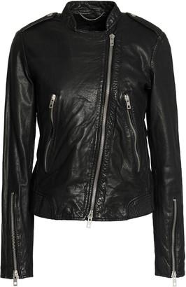 Rag & Bone Lyon Crinkled-leather Biker Jacket