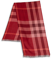 Burberry Check Silk & Cashmere Scarf