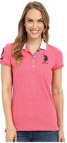 U.S. Polo Assn. Short Sleeve Geometric Print Pique Polo Shirt
