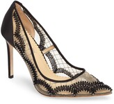 Bella Belle Nadia Scalloped Embroidery Pump