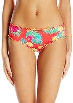 Hobie Women's Tropical Locales Scalloped Hipster Bikini Bottom