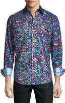 Robert Graham Classic-Fit Sibley Abstract-Print Sport Shirt