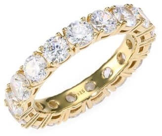 Adriana Orsini 18K Yellow Goldplated Sterling Silver & Cubic Zirconia Eternity Band