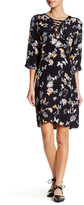 The Kooples Lace Up Butterfly Floral Shift Dress
