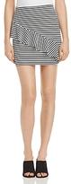 Aqua Stripe Asymmetric-Ruffle Mini Skirt - 100% Exclusive