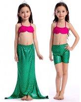 Alaroo Girls 3 Pieces Ajustable Top Shiny Bikini Set Swimsuit Swimwear
