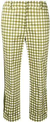 Silvia Tcherassi Cropped Gingham Print Trousers