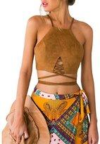 Sannysis Women Summer Sexy Tank Tops Bustier Bra Vest Crop Shirt Blouse Cami (XL, )