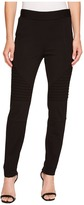 TWO by Vince Camuto - Ponte Moto Leggings w/ Trapunto Inserts Women's Casual Pants