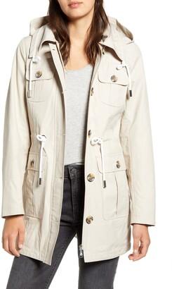 Sam Edelman Four Pocket Hooded Raincoat