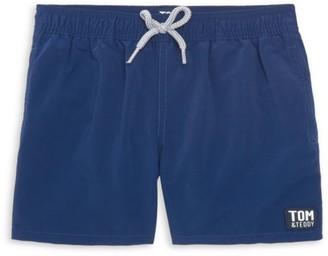 Tom & Teddy Little Boy's & Boy's Solid Board Shorts