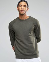 Asos Sweatshirt In Khaki Marl