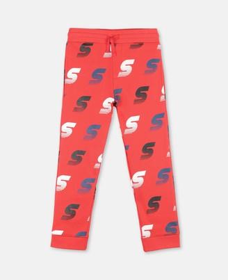 Stella Mccartney Kids SMC Logo Cotton Sweatpants, Men's