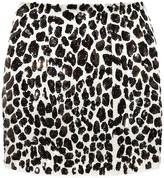Skaist-Taylor Sequined silk mini skirt