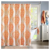 Nobrand No Brand Chelsea Paisley Print Microfiber Shower Curtain - Orange