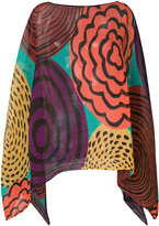Pleats Please By Issey Miyake printed pleated tunic