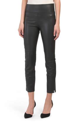 Gemma Faux Leather Lace Up Leggings