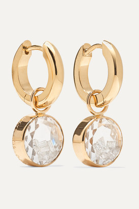 Moritz Glik 18-karat Gold, Sapphire Crystal And Diamond Hoop Earrings