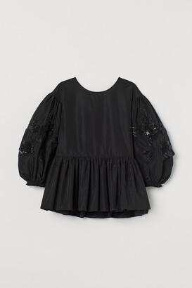 H&M Sequin-appliqued Blouse