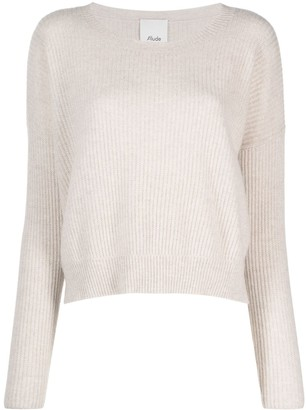 Allude Ribbed-Knit Cashmere Jumper