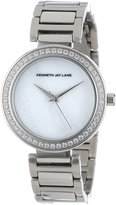 Kenneth Jay Lane Women's KJLANE-2602 Dial Crystal Accented Stainless Steel Watch