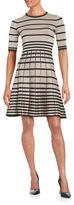 Gabby Skye Jewelneck A-Line Dress