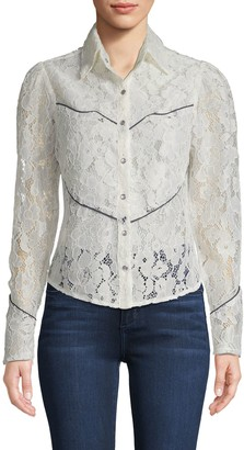 Divine Heritage Lace Western Blouse