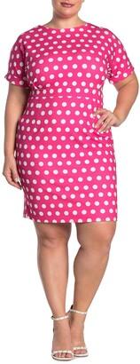 Alexia Admor Taylor Polka Dot Print Sheath Dress
