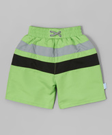 I Play Lime & Black Swim Diaper Trunks - Infant