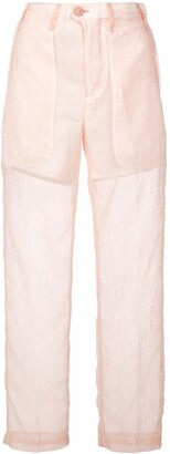Julien David Slim Sheer Trousers