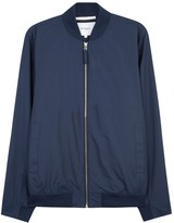 Norse Projects Ryan Blue Cotton Blend Bomber Jacket