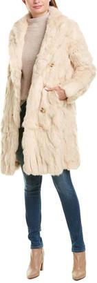 Adrienne Landau Textured Trench Coat