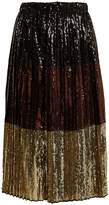 No.21 NO. 21 Sequin-embellished midi skirt
