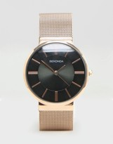 Sekonda Rose Gold Mesh Watch Exclusiveto Asos