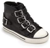 Ash Vava Leather Buckle High-Top Sneakers