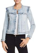 Generation Love Evie Ruffled Embellished Denim Jacket