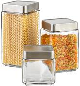 Container Store 1 qt. Glass Canister Aluminum Lid
